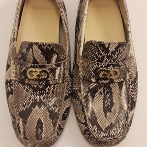 Faux snake skin Cole Haan shoes SIZE 8